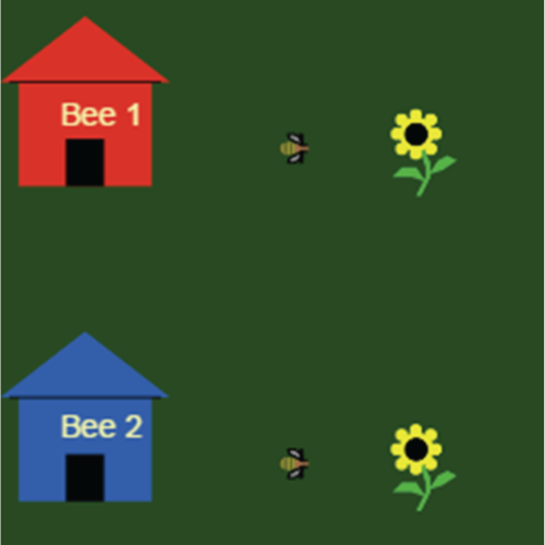 Screenshot of Honey Bee Foraging Model - Virtual Biology Lab